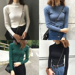 MATO - Mock Neck Knit Top