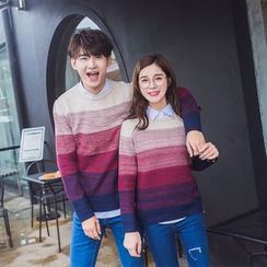Je T'aime - Couple Matching Gradient Sweater