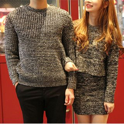 Honey Lemon - Couple Matching Melange Sweater