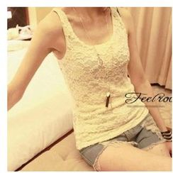Little Flower - Sleeveless Lace Top