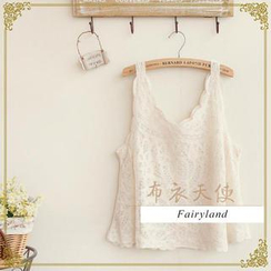 Fairyland - V-Neck Lace Tank Top