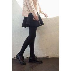 CHERRYKOKO - Ruffle-Hem Mini Skirt
