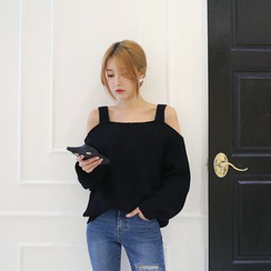DABAGIRL - Cutout-Shoulder Knit Top