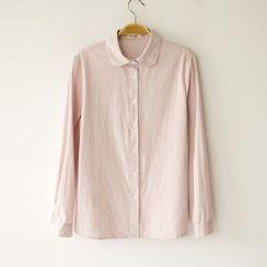 Tangi - 纯色长袖衬衫