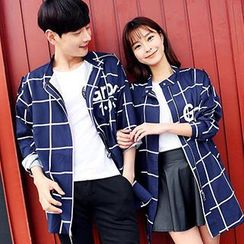 Lovebirds - Couple Check Loose-Fit Jacket