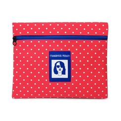 LIFE STORY - Zipped Polka-Dot Pouch