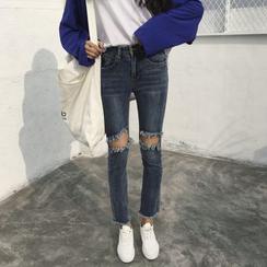 MePanda - Ripped Slim-Fit Jeans