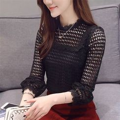 DAZZ - 3/4-Sleeve Lace Top