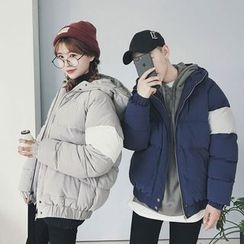 Jacka - Couple Matching Hooded Padded Jacket