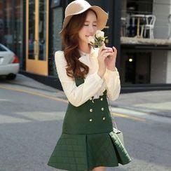 Dabuwawa - Buttoned Ruffled Jumper Skirt