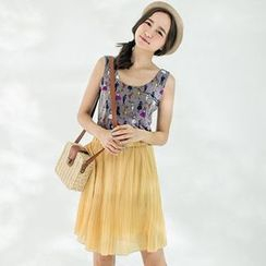 CatWorld - Pleated Chiffon Skirt