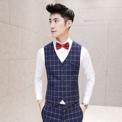 Besto - Window Pane Suit Vest