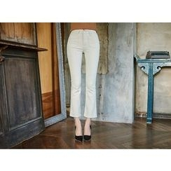 UUZONE - Skinny Boot-Cut Pants