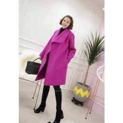 Lemite - Wool Blend Tied-Waist Coat