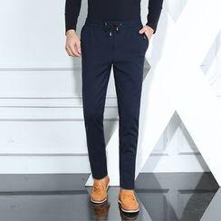 JORZ - Drawstring Waist Straight Leg Pants
