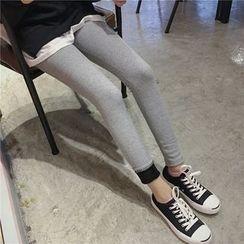 CHIH - 內抓毛羅紋內搭褲