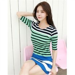 clubber - Round-Neck Color-Block Dres