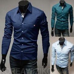Hansel - 纯色长袖衬衫