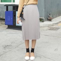 Dute - Accordion Pleated Midi Skirt