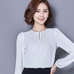 Eferu - 前领孔雪纺衬衫