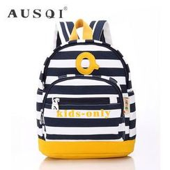 Ausqi - Kids Striped Canvas Backpack