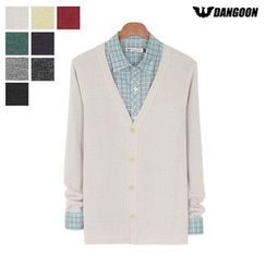 DANGOON - V-Neck Button-Down Colored Cardigan