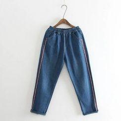 Aigan - Paneled Slim-Fit Jeans