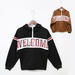 Mr. Cai - Lettering Striped Sweatshirt