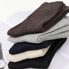 Socka - 抽条纯棉中筒袜