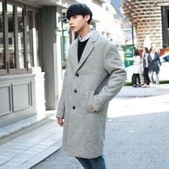 TOMONARI - Notched-Lapel Single-Breasted Coat