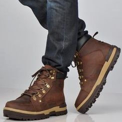 Serene - Genuine Leather Lace-Up Boots