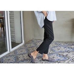 Hello sweety - Flat-Front Straight-Cut Pants