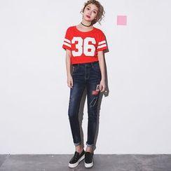 Yumerakka - Ripped Skinny Jeans