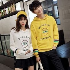 Azure - Couple Matching Embroidered Hoodie