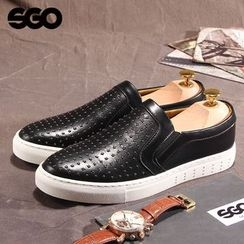Armsal - Genuine-Leather Studded Slip-On Sneakers