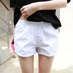 Dodostyle - Colored Band-Waist Shorts