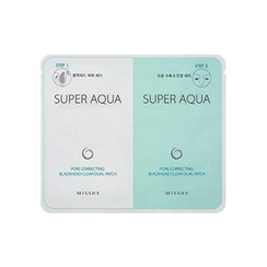 Missha - Super Aqua Pore Correcting Blackhead Clear Dual Patch