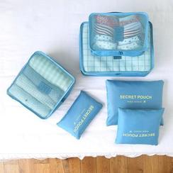 Case in Point - 六件套裝: 圆点旅行衣物收纳包
