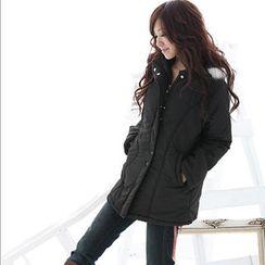 RingBear - Faux-Fur Trim Jacket with Hood