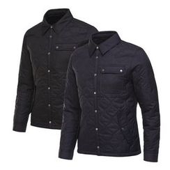 Seoul Homme - Quilted Snap-Button Jacket
