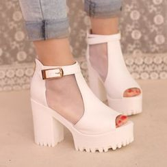 IYATO - Chunky Heel Sandal Boots