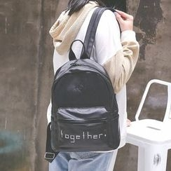 Youme - 字母刺绣背包