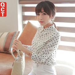 Q.C.T - Dotted Chiffon Shirt