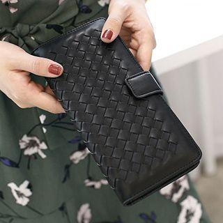 SUOAI - Faux Leather Long Wallet