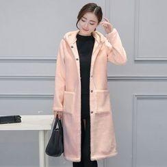 Cerulean - Hooded Fleece Coat