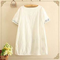 Softies - Short-Sleeve Embroidered Tunic