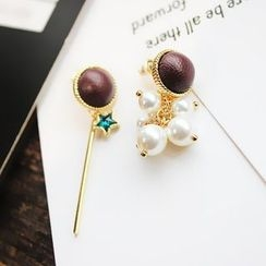 EPOQ - Pearl Non-matching Threader Earrings