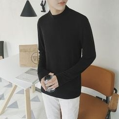 Arthur Look - Long Sleeve Mock Neck T-Shirt