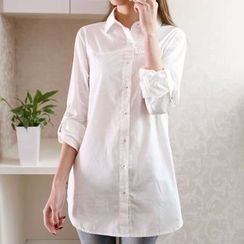 Aigan - Long-Sleeve Long Shirt