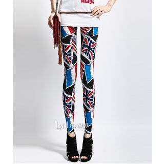 Lynley - Flag Print Leggings